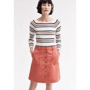 Anthropologie // Pilcro orange chino skirt